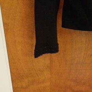 Dana Buchman Sweaters - Dana Buchman black beaded pullover sweater